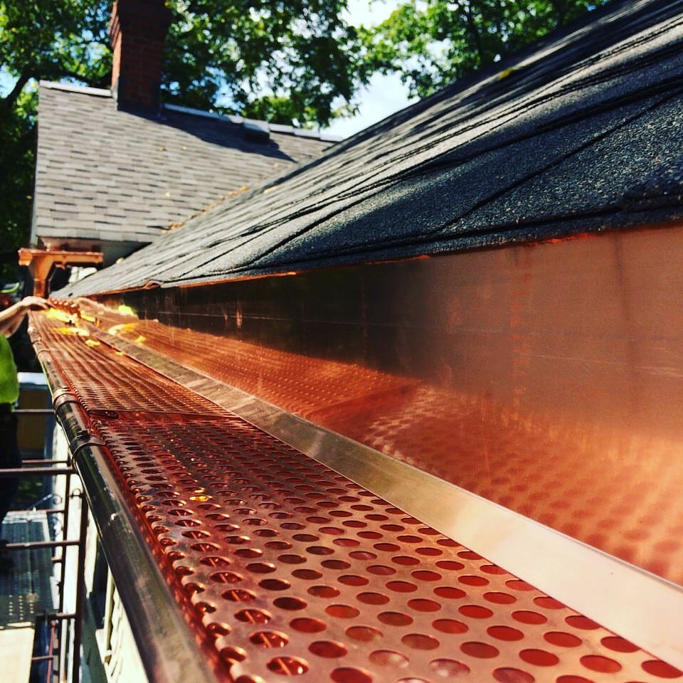 Copper Gutter, Copper Half Round Gutters, Copper Gutter Guard, Copper Gutter Protection