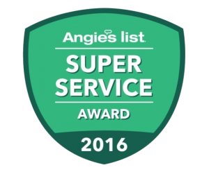 Angie's List Super Service Award for Gutter Installation, Gutter Repair, Drain Installation, Drain Repair, Gutter Cleaning, Gutter Service, Drain Cleaning, Drain Camera